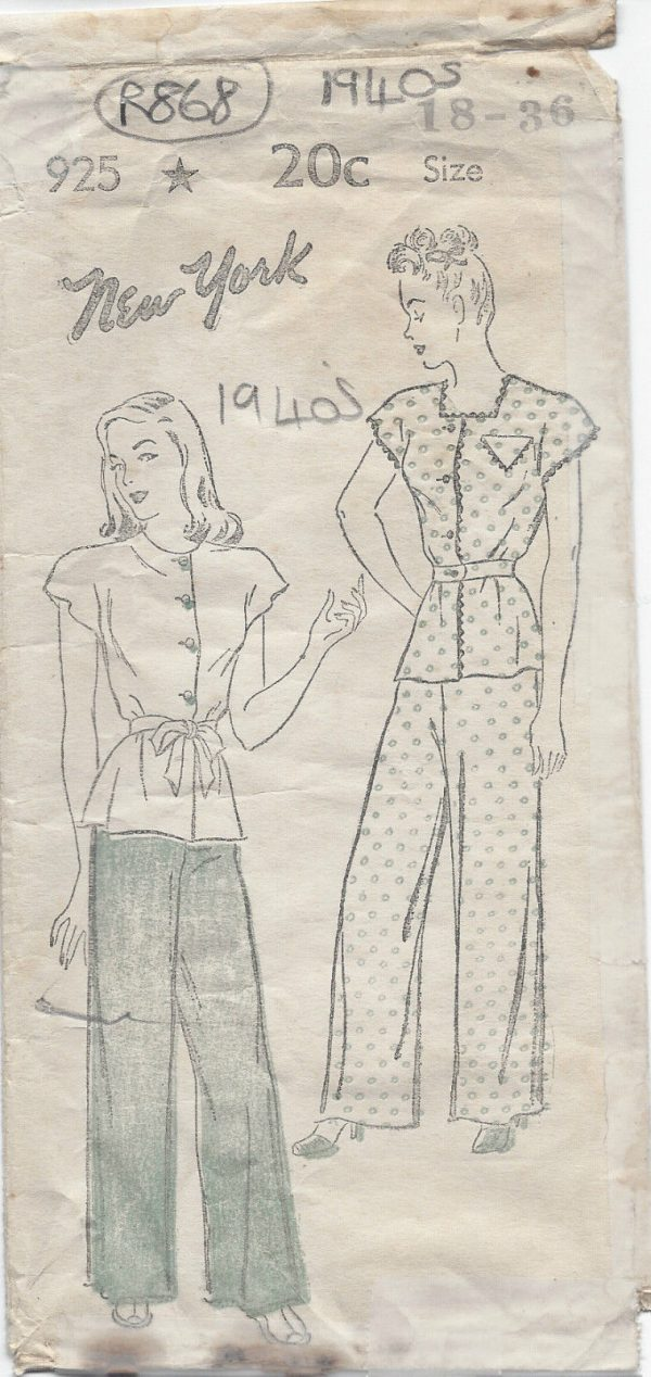 1940s-Vintage-Sewing-Pattern-B36-PYJAMAS-R868-251225753999