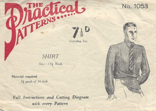 1940s-Vintage-Sewing-Pattern-MENS-SHIRT-S15-12-R883-251229065559