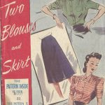 1940s-WW2-Vintage-Sewing-Pattern-B32-BLOUSE-SKIRT-1362-251737190249
