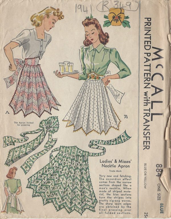 1941-Vintage-Sewing-Pattern-APRON-ONE-SIZE-R349-