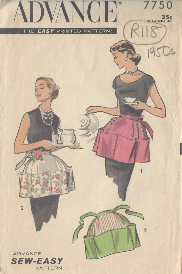 1950s-Vintage-Sewing-Pattern-APRON-ONE-SIZE-R118-251145591529