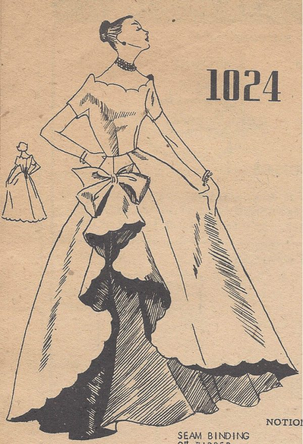 1950s Vintage Sewing Pattern B32 BALLGOWN EVENING DRESS (R798) By ...