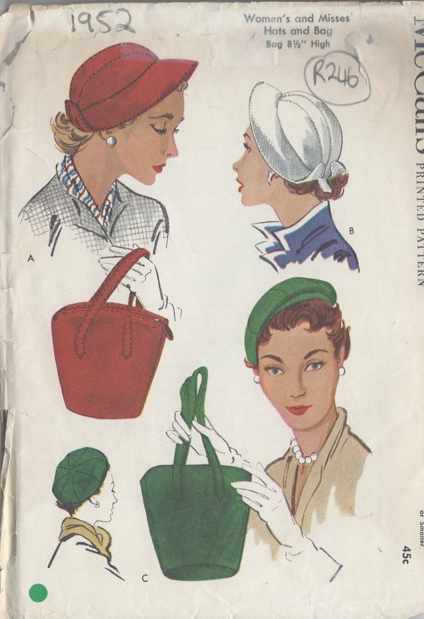 1952-Vintage-Sewing-Pattern-HATS-BAGS-S22-R246-251144444149