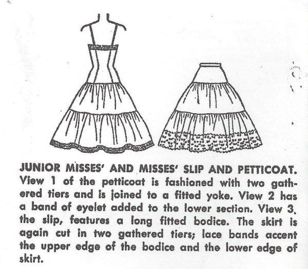 1953-Vintage-Sewing-Pattern-B30-W25-PETTICOAT-SLIP-R966-261211359539-3