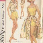 1958-Vintage-Sewing-Pattern-B34-PLAYSUIT-SKIRT-BLOUSED-JACKET-R858-252042023579