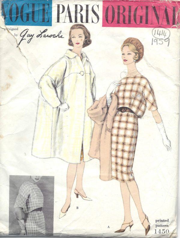 1959 Vintage VOGUE Sewing Pattern COAT & DRESS B31\