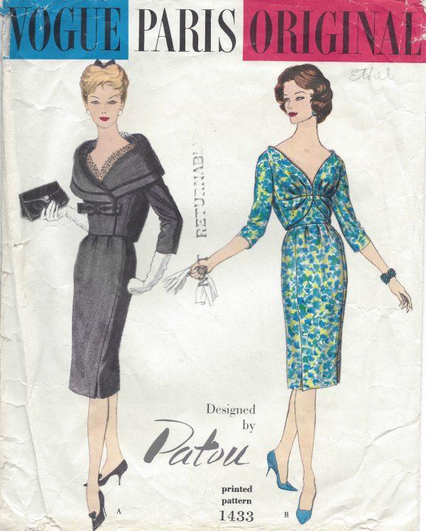 1959 Vintage VOGUE Sewing Pattern DRESS & JACKET B34 (1263) By ...