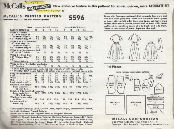 1960-Vintage-Sewing-Pattern-B33-SKIRT-DRESS-JUMPSUIT-1801-252829667759-2