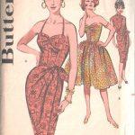 1960-Vintage-Sewing-Pattern-B34-DRESS-SARONG-DRESS-JACKET-1498-262386455119