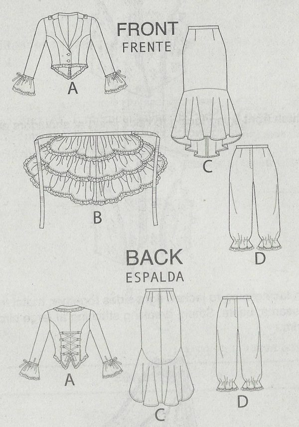 Vintage Sewing Pattern B34-to-42 JACKET BUSTLE CAPELET SKIRT PANTS ...